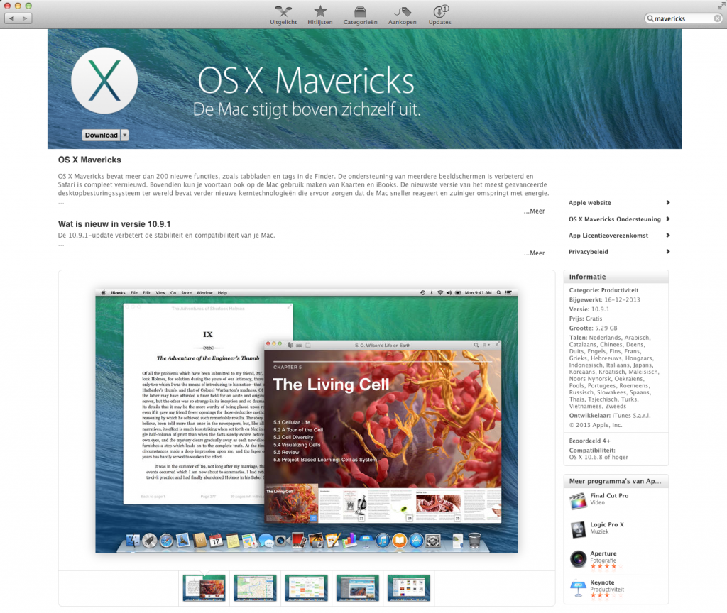 Mavericks: installatie