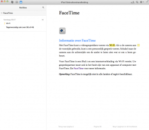 Notities maken in iBooks