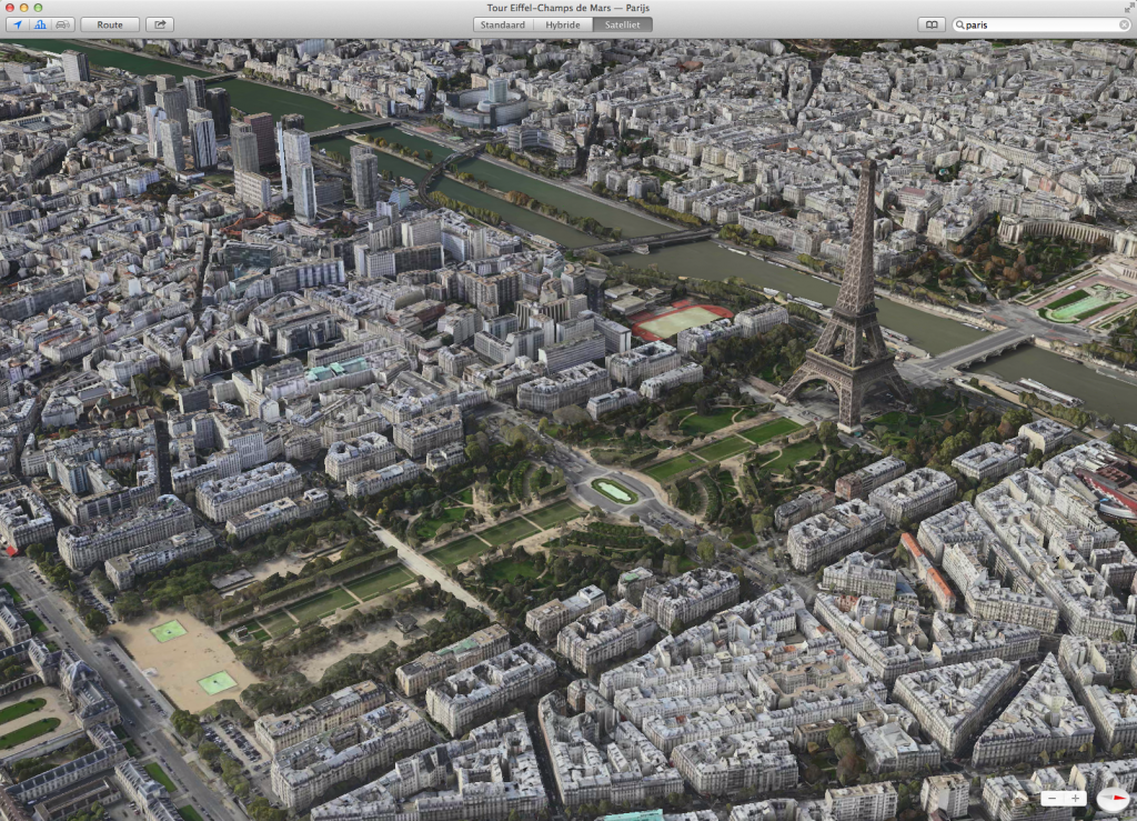 Kaarten: 3D weergave, Parijs
