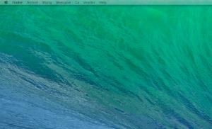 Transparante menubalk op tweede scherm