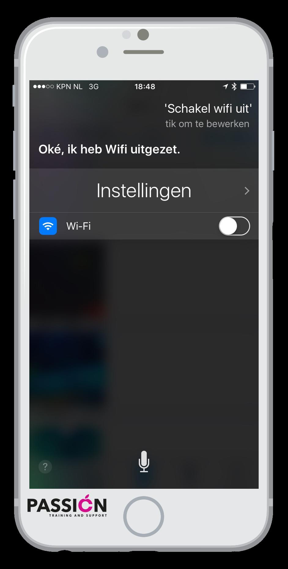 Wifi uit Siri