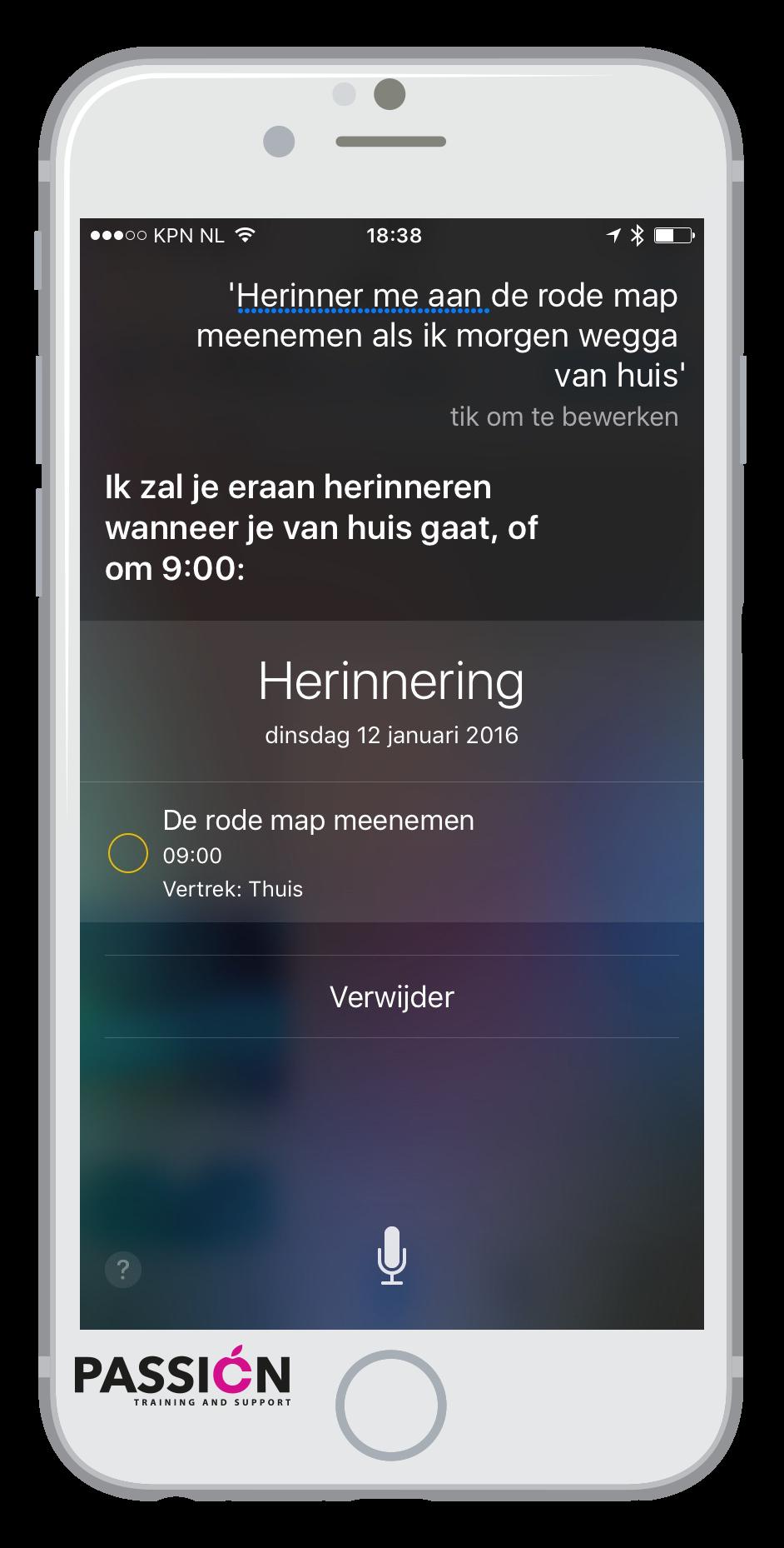 Herinnering Siri