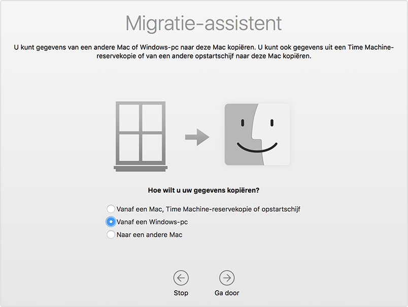 migratie assistent Windows