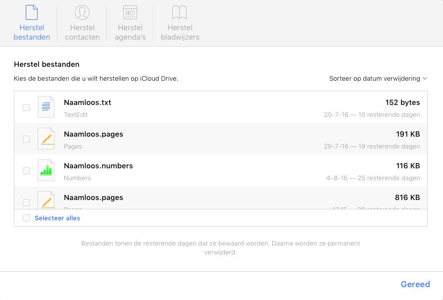 iCloud Herstel