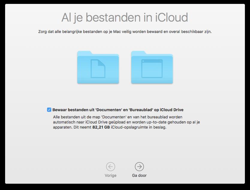 iCloud Drive bestanden